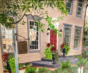 A Margaret Mulligan Watercolor of the Brick Street Inn